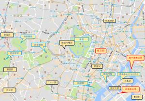 東京駅周辺屋形船マップ