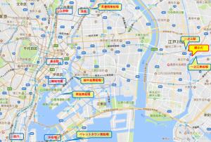 東京 貸切り 屋形船 網さだ 地図