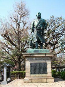 東京 貸切り 屋形船 周辺観光地 上野公園 西郷像写真