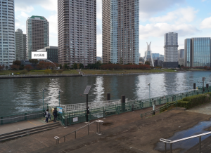 東京貸切り屋形船越中島乗船場写真