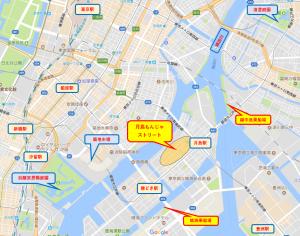もんじゃストリート マップ