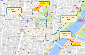 貸切り 屋形船 東京 浅草花やしき 詳細地図