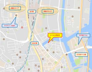 東京貸切り屋形船むつみ丸地図