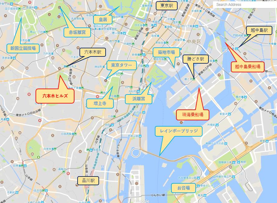 六本木ヒルズ案内マップ