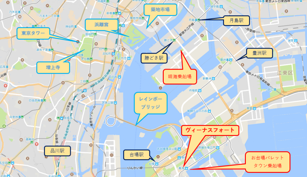 東京ヴィーナスフォート案内マップ