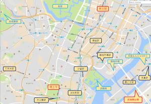 東京観光増上寺マップ