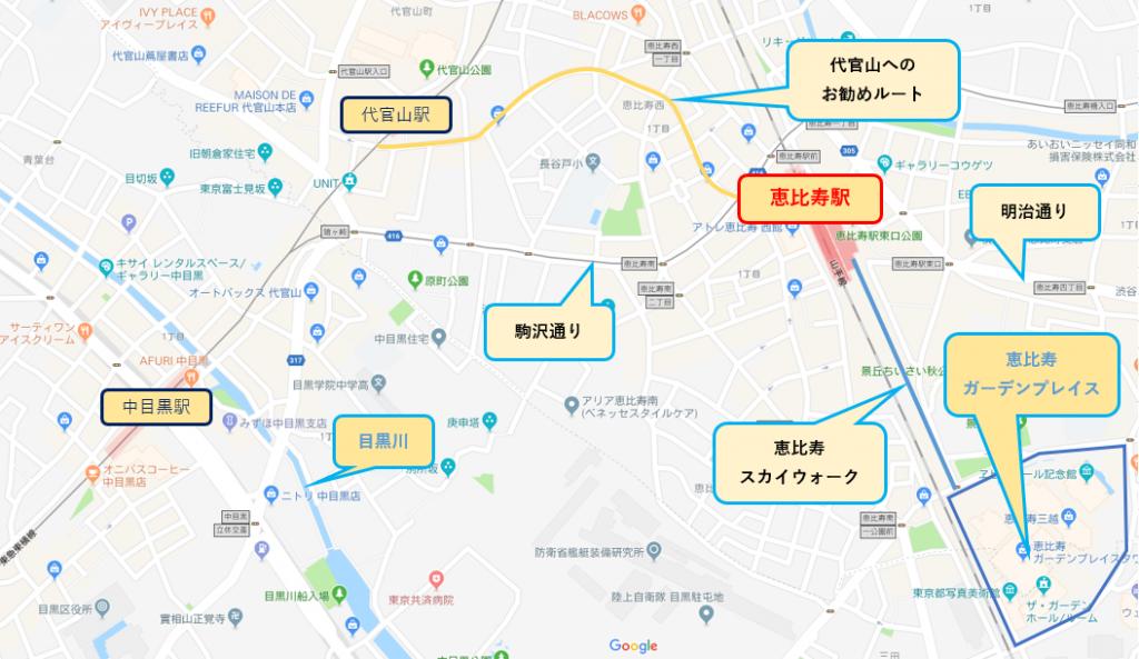 東京屋形船乗船前観光恵比寿駅