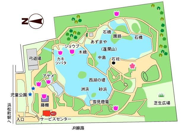 旧芝離宮恩賜庭園全体マップ