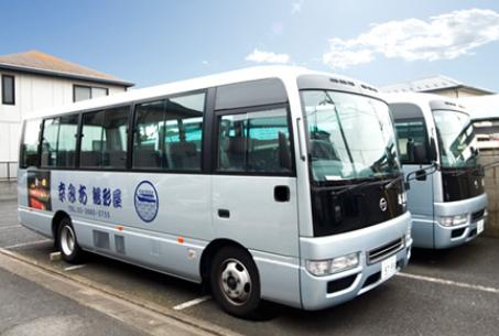 屋形船の送迎用バス