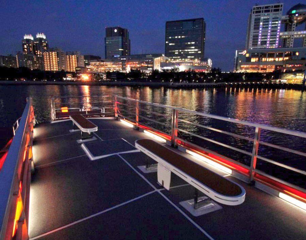 東京の屋形船のスカイデッキ貸切