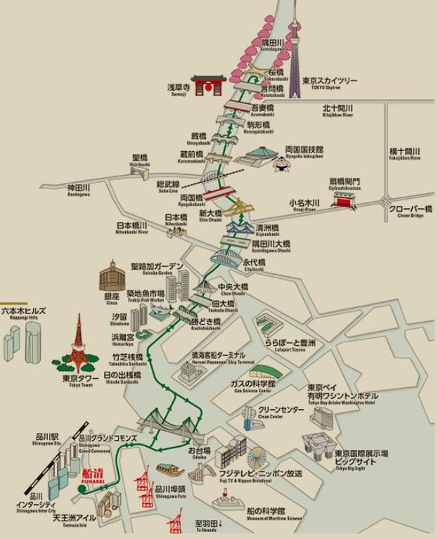 品川船清の乗合周遊コース