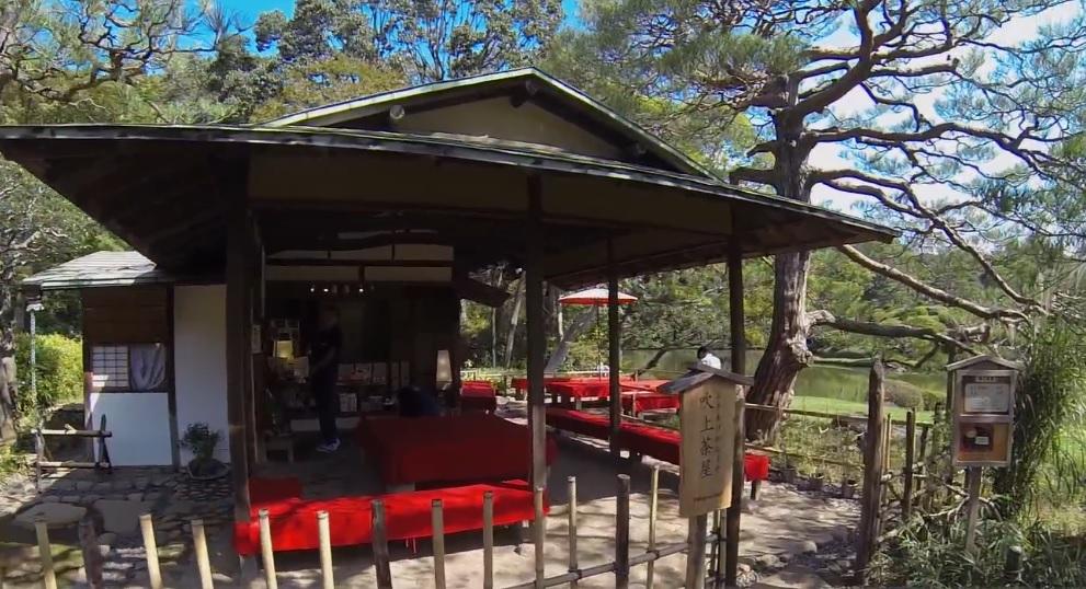 六義園の吹上茶屋