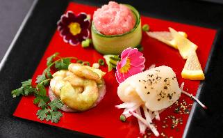2019年春夏の濱田屋会席の前菜